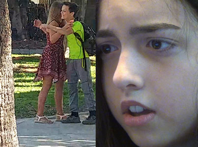 Girl Sets Up 13-Year-Old Boyfriend To See If He'll Cheat 😂😂👫
