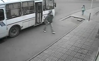 Hero Hops Off The Bus And Knocks Out A**hole Thug For Attacking A Woman 💀😂