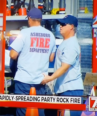 Firefighter Gets Busted On The News Squeezing His Friends Butt 😂😂😂😂😂