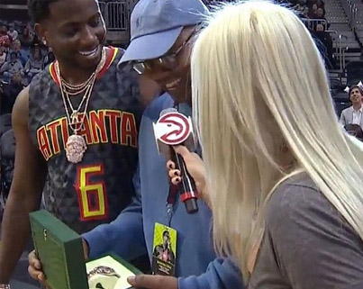 Gucci Mane Gave Away A Rolex During The Hawks Game 🤘🏼