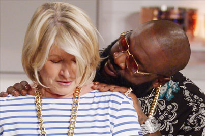 Rick Ross Rubs Up On Martha Stewart 😳