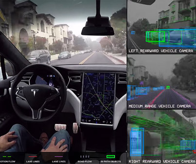 Tesla Demonstrates How Its Self-Driving Technology Works