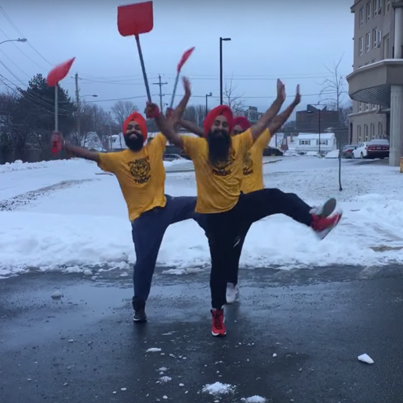 Bhangra Dancing In Cold Canadian Winters Be Like 🔥👌