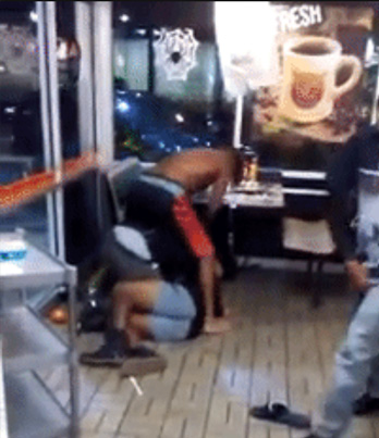 CRAZY WAFFLE HOUSE FIGHT