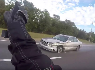 Shocked Motorcyclist Films Guy Having A Stroke On The Highway 💀💀💀