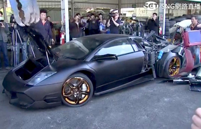 Taiwanese Government Destroys A $340K Illegally Imported Lambo 😫