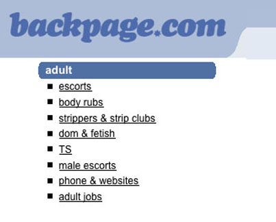 Backpage Shuts Down Its Adult Section In The US 😭😭😭