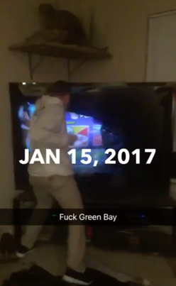 Cowboys Fan Punches The Sh*t Out Of A Giant Flatscreen TV
