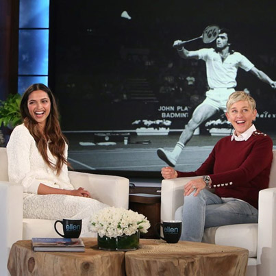 Deepika Padukone On The Ellen DeGeneres Show 👍🌟😍😘