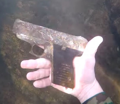 Diver Hunting For Treasure Stumbles Upon A Possible Murder Weapon 🤔