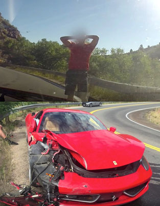 Dude Destroys A $450K Ferrari Trying To Impress A Girl 😂😂😂