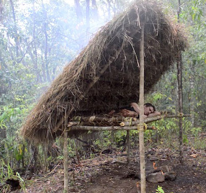 Making A Sick Bed Shed Using Grass And Wood 🙌🔥🙌