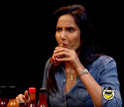 Padma Lakshmi Gracefully Destroys Spicy Wings 🔥👑💃🏽