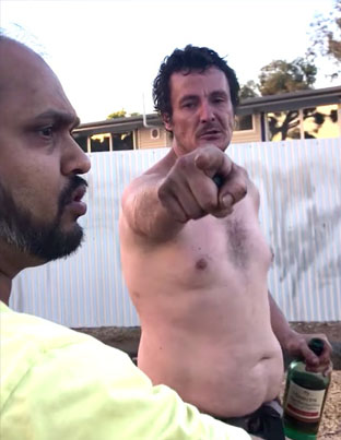 Shirtless Drunk Man Screams Racial Slurs At A Family Minding Their Own Business