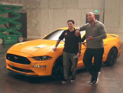 The Rock Surprises A US Veteran With A Legendary Pony