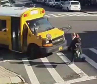 Woman Survives Being Run Over By A School Bus 💀💀💀
