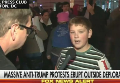 Screw Our President: Young Boy Brags About Starting Fire At Anti-Trump Protest 😂😂😂