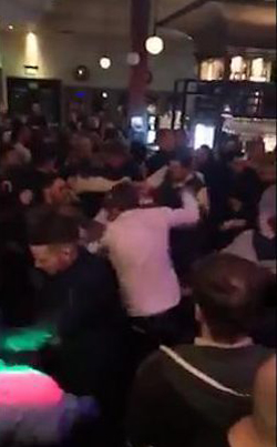 The Dangers Of Sausage Fests: 100 Person Brawl Breaks Out At A Bar In England 👊👊👊🍺🍺
