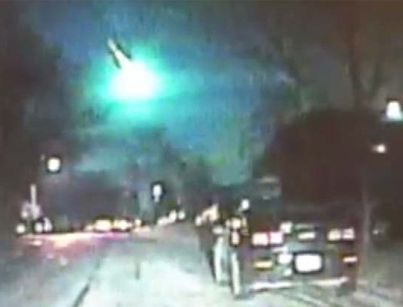 Blazing Green Fireball Caught On Police Dash Cam 🙏🙏🙏