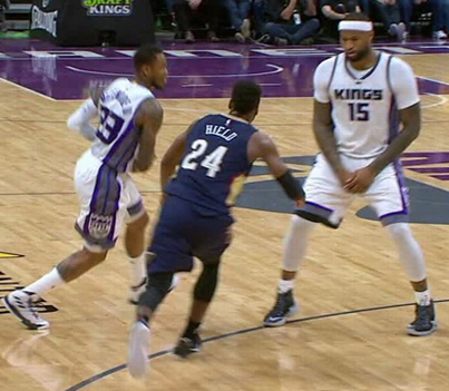 Buddy Hield Ejected For Grabbing DeMarcus Cousins' Junk 😂😂😂