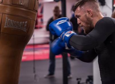 Conor McGregor Works On His Boxing Technique 💪💪💪