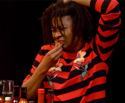 Danny Brown Has An Orgasm Eating Spicy Wings 😂😂😂