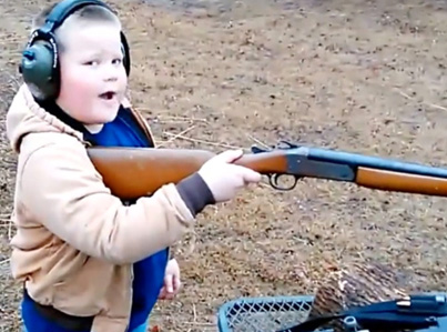 Southern Kid Experiences Kick Back For First Time After Shooting Shotgun 😂😂😂