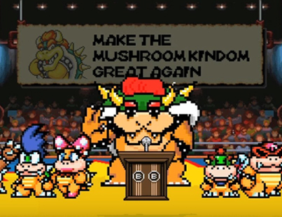 Super Mario Politics: Bowser VS. Peach Election 😂😂😂