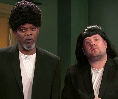Samuel L. Jackson Acts Out His Entire Film Career With James Corden 😂😂😂