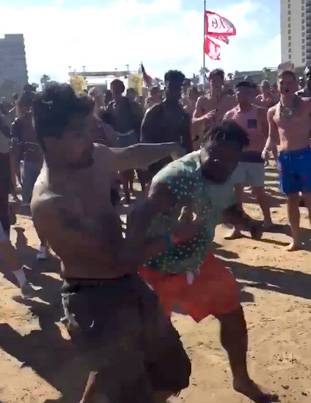 Spring Break Bro Goes On A Knockout Spree 💀💀💀