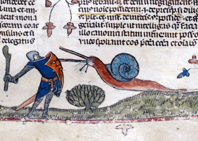 Why Knights Fought Snails In Medieval Art 🐌🐌🐌