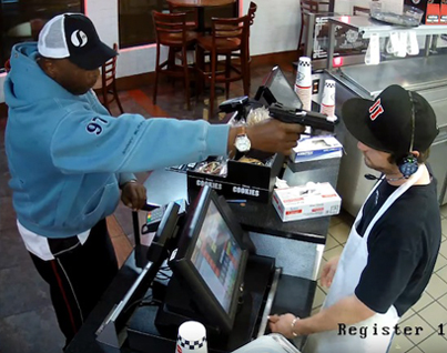 Cashier Robbed At Gunpoint DGAF About The Gun In His Face 😳😩🔫