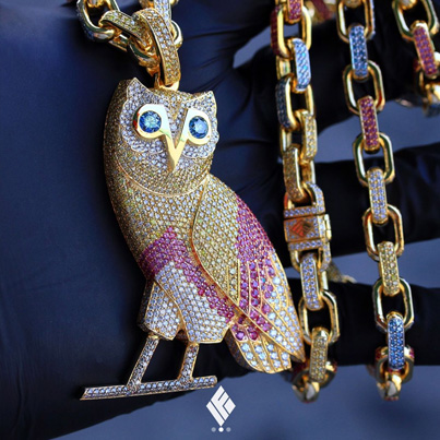 Drake's New OVO Chain By Ben Baller 😱🙌🏻✨