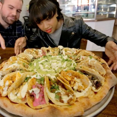 Pizza Topped With 21 Tacos 🌮