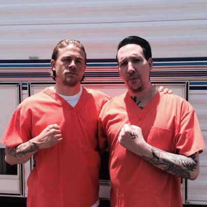 Charlie Hunnam And Marilyn Manson Are Basically Best F**ken Friends 🙏🙏🙏