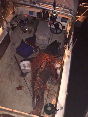 Great White Shark Jumps Into An Aussie Dude's Fishing Boat