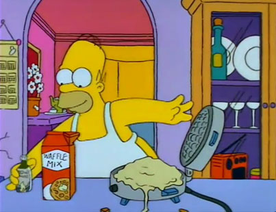 How To Make Homer Simpson's Space Age Moon Waffles 😮