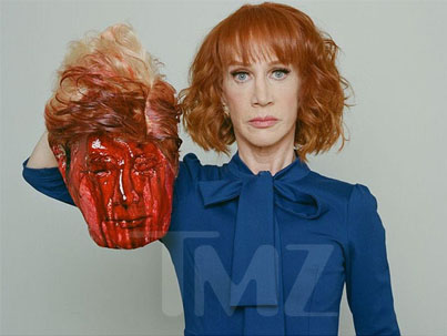 NOT FUNNY: Kathy Griffin 'Beheads' Trump 😱😱😱