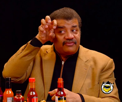 Neil deGrasse Tyson Explains The Universe While Eating Spicy Wings 😭😭😭