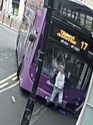 Bus Crashes Into Man Who Then Gets Up And Walks Into Pub 😵😵😵