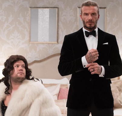 David Beckham And James Corden Audition To Become James Bond 😂😂😂