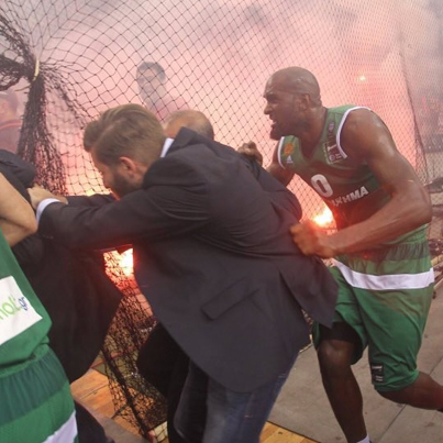 Greek Basketball Championship Ends With Explosions 😱😱😱