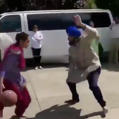 He's The Wife Now: Singh Gets Schooled By His Ting 😂😂😂🏀