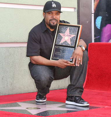 Ice Cube Receives A Star On The Hollywood Walk Of Fame
