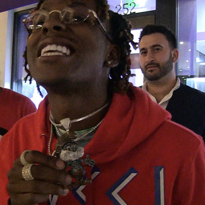 Rich The Kid Drops $75K On Papa Smurf Chain 😂🚣🚣📗📗
