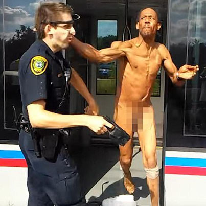 Naked Man High Off Drugs Slaps The Soul Out Of A Cop
