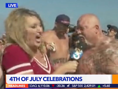 Reporter Gets Showered In Barf During A Live TV Interview 😫😱