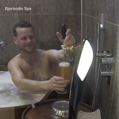 This Spa Offers Beer Bath's 🍺🛁🤔