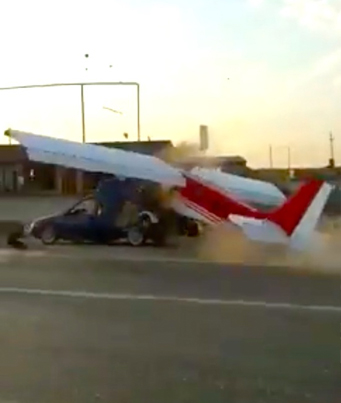 Small Aircraft Tries To Take Off On A Public Road 😂😂😂