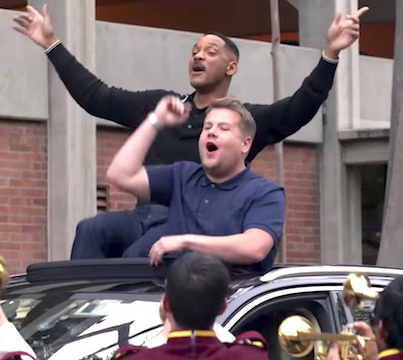 Will Smith And James Corden Get Jiggy With It In 'Carpool Karaoke' 😅😅😅